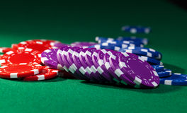 Colorful poker chips Royalty Free Stock Photo
