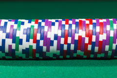 Colorful poker chips Royalty Free Stock Images
