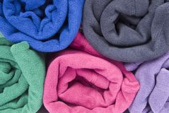 Colorful Polar Fleece Stock Images
