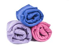 Colorful Polar Fleece Stock Photography