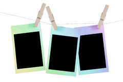 Colorful polaroid frame Royalty Free Stock Photography