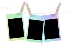 Colorful polaroid frame. Colorful retro photo frame isolated on white background Royalty Free Stock Photography