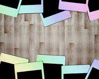 Colorful polaroid frame 1 Stock Photo