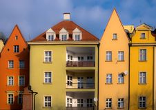 Building architecture in Poland royalty free stock photo