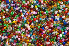 Colorful polished glass beads Stock Images