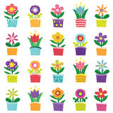 Colorful Polka Dot and Chevron flower Stock Photo
