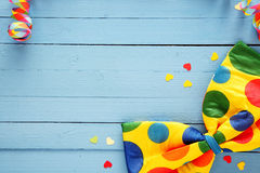 Colorful polka dot party bow tie Royalty Free Stock Photos