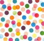 Colorful polka dot pattern Stock Image