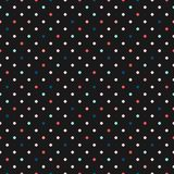 Colorful polka dot seamless pattern. Confetti texture. Small colorful dots. Colorful polka dot seamless pattern. Vector confetti texture with small scattered Stock Photo