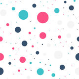 Colorful polka dots seamless pattern on black 19. Colorful polka dots seamless pattern on black 19 background. Beauteous classic colorful polka dots textile stock illustration