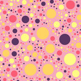 Colorful polka dots seamless pattern on bright 25. Colorful polka dots seamless pattern on bright 25 background. Attractive classic colorful polka dots textile Royalty Free Stock Photo