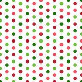 Colorful Polka Dots Seamless Pattern royalty free stock image