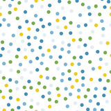 Colorful polka dots seamless pattern on white 12. Colorful polka dots seamless pattern on white 12 background. Pleasing classic colorful polka dots textile Royalty Free Stock Photos