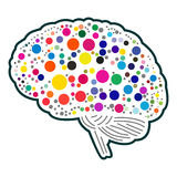 Colorful polkadot brain Royalty Free Stock Images