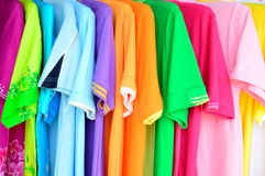 Colorful polo shirt background. The colorful polo shirt background Stock Images