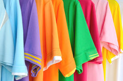 Colorful polo shirt background Stock Image