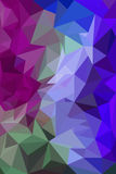 Colorful polygon Abstract background Stock Image