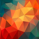 Colorful Polygon abstract background. Royalty Free Stock Photos