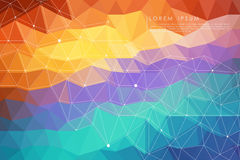 Colorful polygon abstract background Stock Images