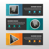 Colorful polygon corporate business banner template, horizontal advertising business banner layout template flat design set Royalty Free Stock Photos