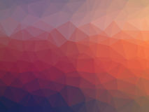 Colorful polygon illustration Stock Photos