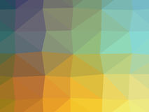 Colorful polygon illustration Royalty Free Stock Photos