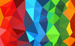 Colorful polygon Stock Images