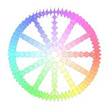 Colorful polygon transformation wheel Royalty Free Stock Photo