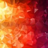 Colorful polygon triangular geometric Stock Photos