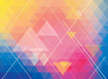 Colorful polygonal abstract background Stock Photos