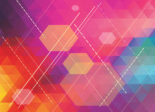 Colorful polygonal abstract background Stock Image