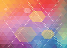 Colorful polygonal abstract background Stock Images