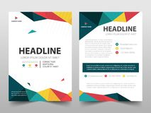 Colorful polygonal annual report Brochure design template vector. Business Flyers magazine poster.Abstract layout template , royalty free stock photography