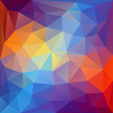 Colorful polygonal background. Stock Photography