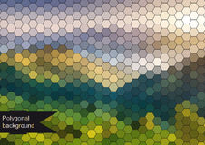 Colorful polygonal background Stock Images