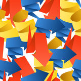 Colorful polygonal origami arrows Royalty Free Stock Image