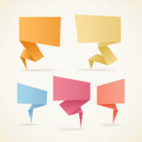 Colorful polygonal origami bannes Royalty Free Stock Photography
