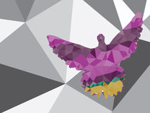 Colorful Polygonal Pigeon Stock Photography
