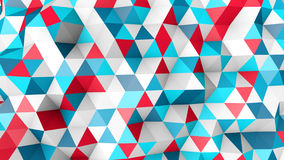 Colorful polygonal surface 3D render Stock Image