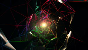 Colorful Polygonal Tunnel stock video
