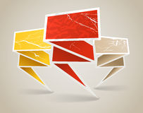 Colorful polygonal vintage origami banners Royalty Free Stock Photography