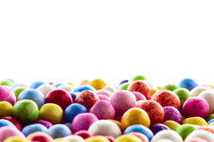 Colorful polysterene balls. Many nice colorful small polysterene balls on background Stock Images