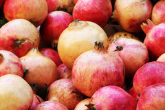 Colorful pomegranates, detailed view Royalty Free Stock Photography