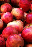 Colorful pomegranates, detailed view Royalty Free Stock Photos