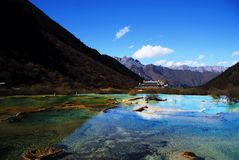 Colorful Ponds Of Huanglong Royalty Free Stock Photography