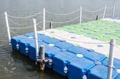 Colorful pontoon Stock Image