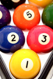 Colorful pool balls Royalty Free Stock Images