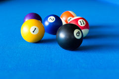 Colorful pool balls Stock Photos