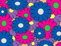 Colorful pop art flowers Stock Image