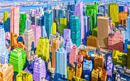 Free Colorful Pop Art Styled New York City NYC Manhattan Diverse Diversity Royalty Free Stock Image - 160322416